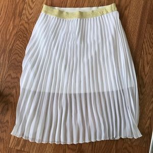White Pleated Lightweight Skirt